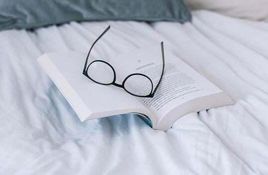 Läsa innan du ska sova