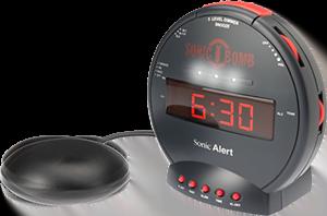 7 Bästa väckarklockorna för svårväckta [2021] - Sonic bomb superväckarklocka